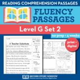 Reading Fluency Homework Level G Set 2