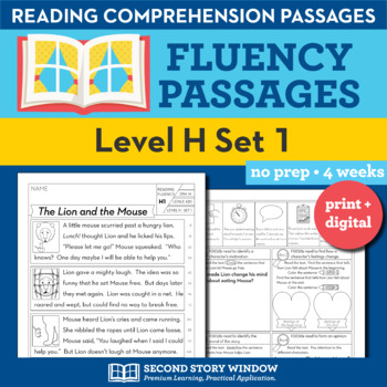 Reading Fluency Homework Level H Set 1