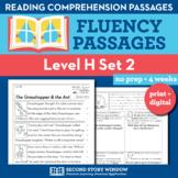 Reading Fluency Homework Level H Set 2 - Reading Comprehension Passages +Digital