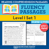 Reading Fluency Homework Level I Set 1