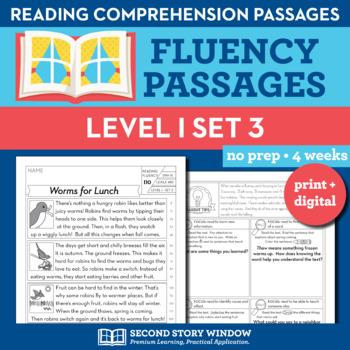 Reading Fluency Homework Level I Set 3