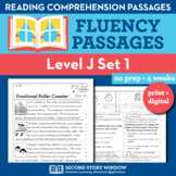 Reading Fluency Homework Level J Set 1 - Distance Learning