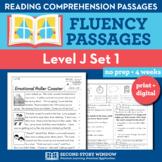 Reading Fluency Homework Level J Set 1 - Distance Learning