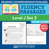 Reading Fluency Homework Level J Set 2 - Reading Comprehen