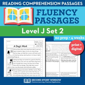 Reading Fluency Homework Level J Set 2