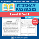 Reading Fluency Homework Level K Set 1 - Distance Learning