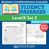 Reading Fluency Homework Level K Set 2 - Reading Comprehen