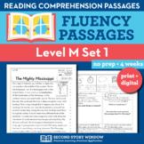 Reading Fluency Homework Level M Set 1 - Reading Comprehen