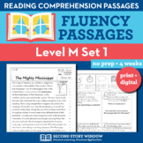 Reading Fluency Homework Level M Set 1 - Distance Learning