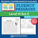 Reading Fluency Homework Level M Set 2 - Reading Comprehen