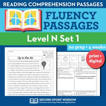 Reading Fluency Homework Level N Set 1
