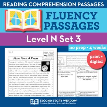 Reading Fluency Homework Level N Set 3