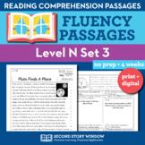 Reading Fluency Homework Level N Set 3 - Reading Comprehen