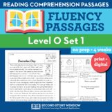 Reading Fluency Homework Level O Set 1 - Reading Comprehen