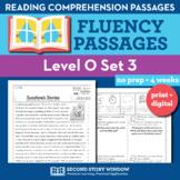 Reading Fluency Homework Level O Set 3 - Distance Learning