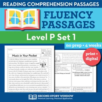 Reading Fluency Homework Level P Set 1