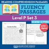 Reading Fluency Homework Level P Set 3 - Distance Learning