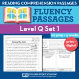 Reading Fluency Homework Level Q Set 1 - Reading Comprehen