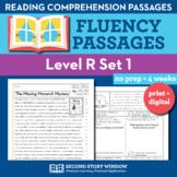 Reading Fluency Homework Level R Set 1 - Reading Comprehension Passages +Digital