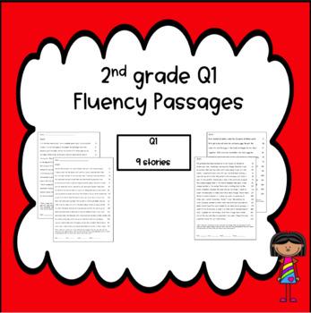 Oral Reading Fluency Homework Quarter 1 NO PREP (complete first nine weeks)