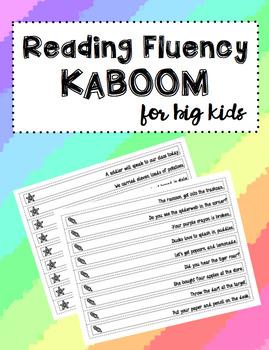 Reading Fluency Kaboom For Big Kids