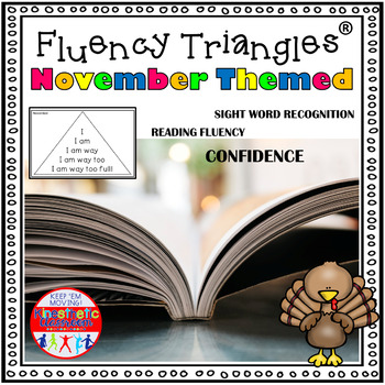 Reading Fluency Activity - November and Thanksgiving Theme