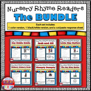 Reading Fluency - Nursery Rhyme Reader Bundle {Little Books}
