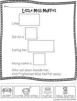 Reading Fluency - Nursery Rhyme Reader: Little Miss Muffet {Little Book}