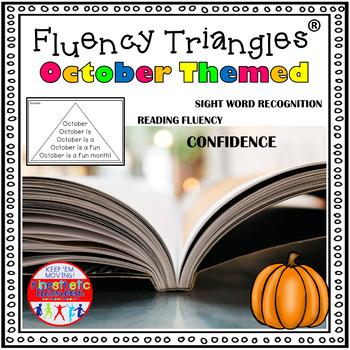 Reading Fluency Activity - October & Halloween Themed Fluency Triangles® {RTI}