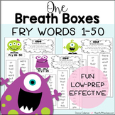 Fry Words 1-50: One Breath Boxes