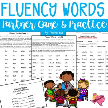 Reading Fluency Words Partner Game & Practice (Fry Words First 500)