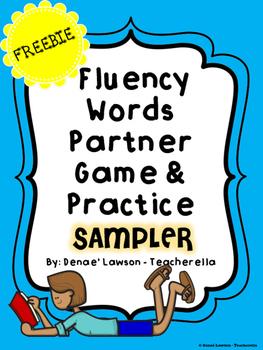 Fluency Words Partner Game & Practice (Fry Words First 500) - SAMPLER