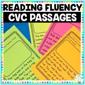 Reading Fluency Passages CVC Word Family {Kindergarten}