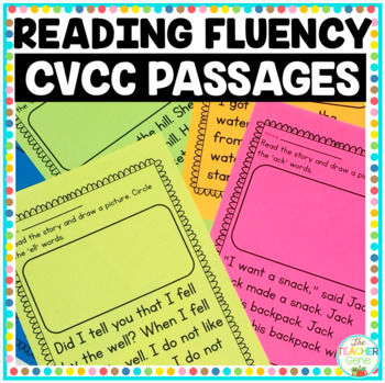 Reading Fluency Passages CVCC Word Family NO PREP