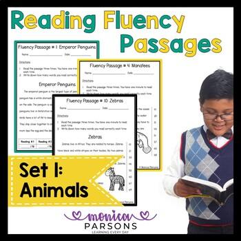 Reading Fluency Passages Set 1 - Grades 1 - 2 Animals {Nonfiction}