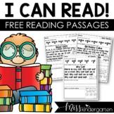 Reading Fluency Passages FREEBIE by Miss Kindergarten