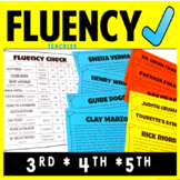 Reading Fluency Passages Third Fourth Fifth Word Work