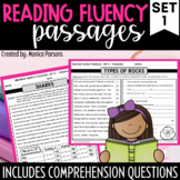 Reading Fluency Passages and Comprehension Questions - Set 1