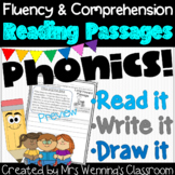 Reading Fluency & Comprehension Passages - Read it, Write it, Draw it!