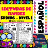 Reading Fluency Passages in Spanish - Spring Set - 23 Passages