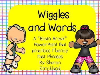 Reading Fluency Phrase Practice- Wiggles and Words Set 1
