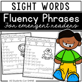 Sight Word Fluency Phrases Reading Comprehension Passages