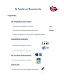 Reading Fluency Poster (Spanish)