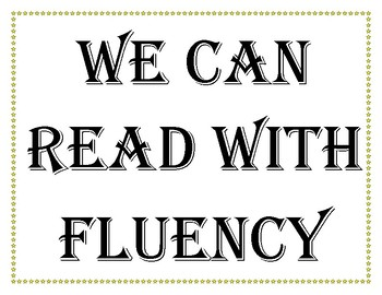 Reading Fluency Posters