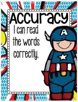Reading Fluency Posters Superhero Theme