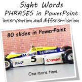 Fry Sight Words Reading Fluency Practice  (PowerPoint)