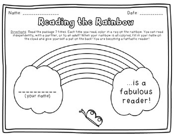 Reading Fluency Rainbow