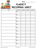 Reading Fluency Recording Sheet