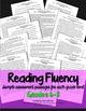 Reading Fluency Rubrics and Assessments RtI Grades 6-8