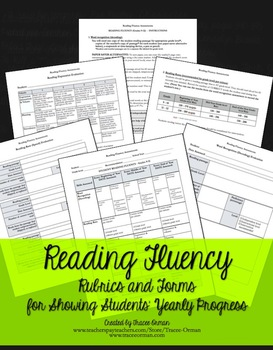 Reading Fluency Rubrics and Assessments for RtI Grades 9-12